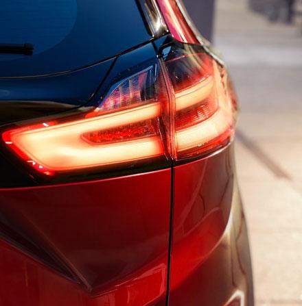 Rear view of Edge tail lights