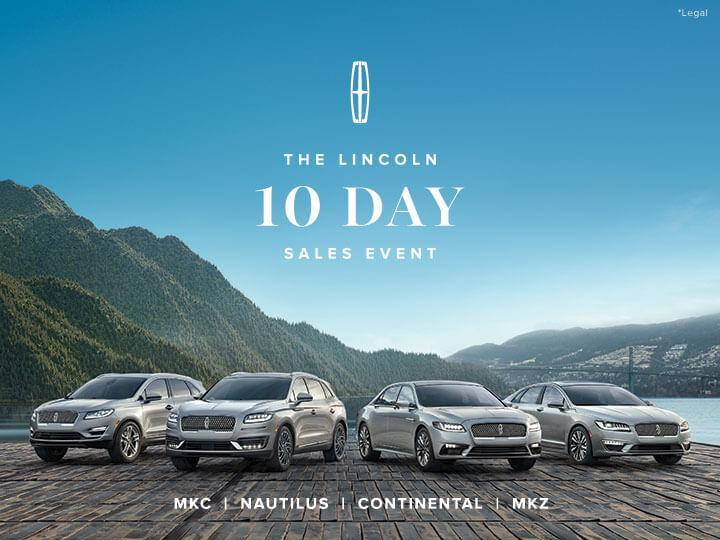 10 Day Sales Event - Lincoln