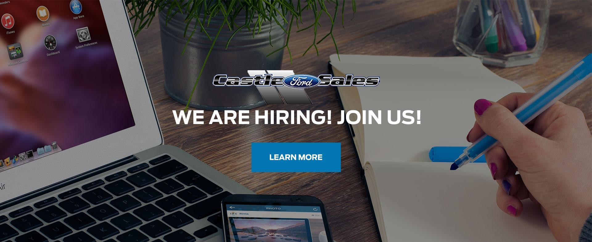 Join Our Team at Castle Ford Sales