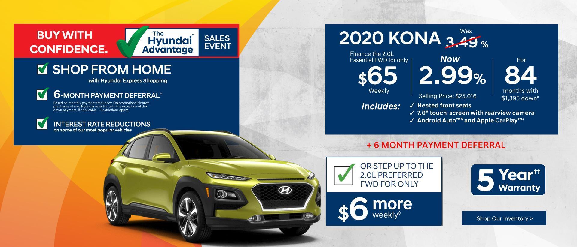 Shop From Home with Hyundai Express Shopping | 2020 Hyundai Kona | Corey Hyundai