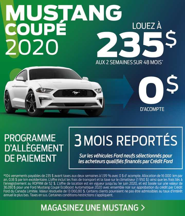 Offre Mustang mai 2020