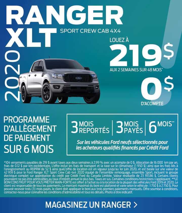 Offre Ranger 2020