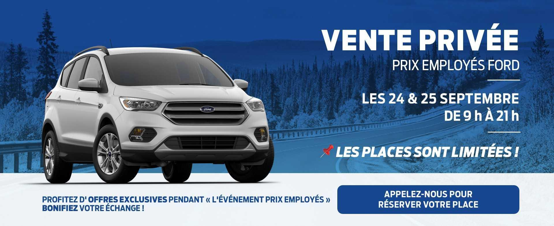 Vente privée septembre 2019