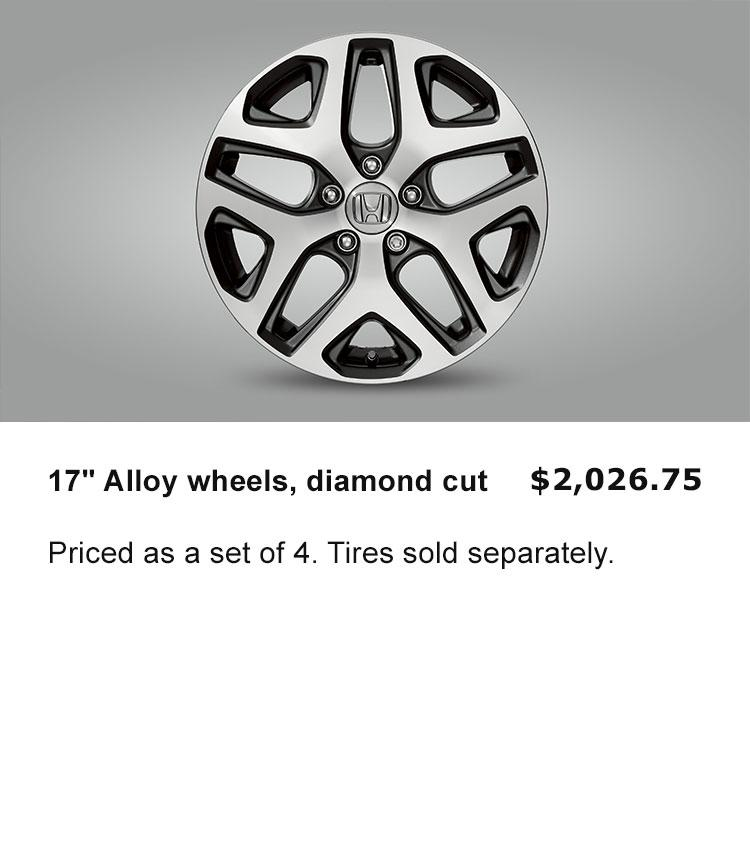 "17"" Alloy wheels, diamond cut"