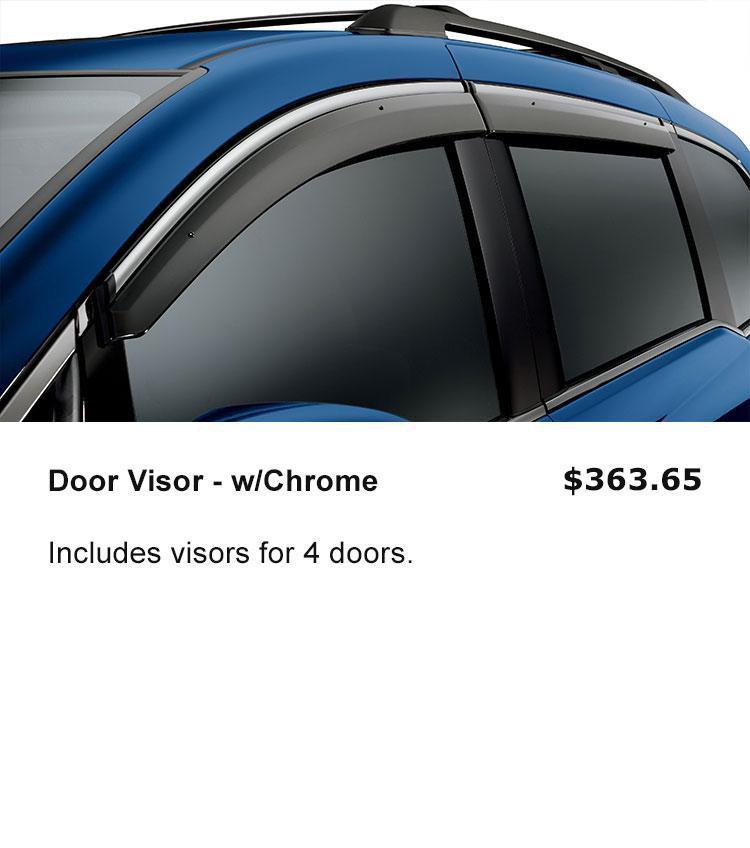 Door Visor - w/Chrome