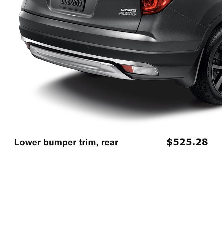 Lower Bumper Trim, Rear