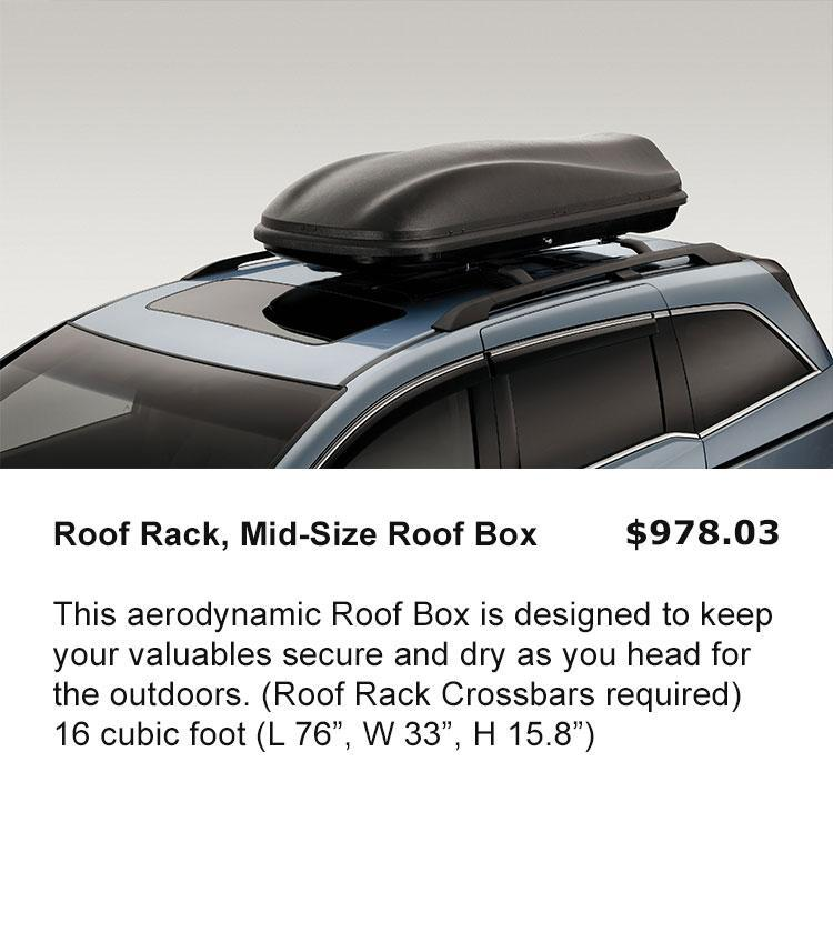 Roof Rack, Mid Size Box