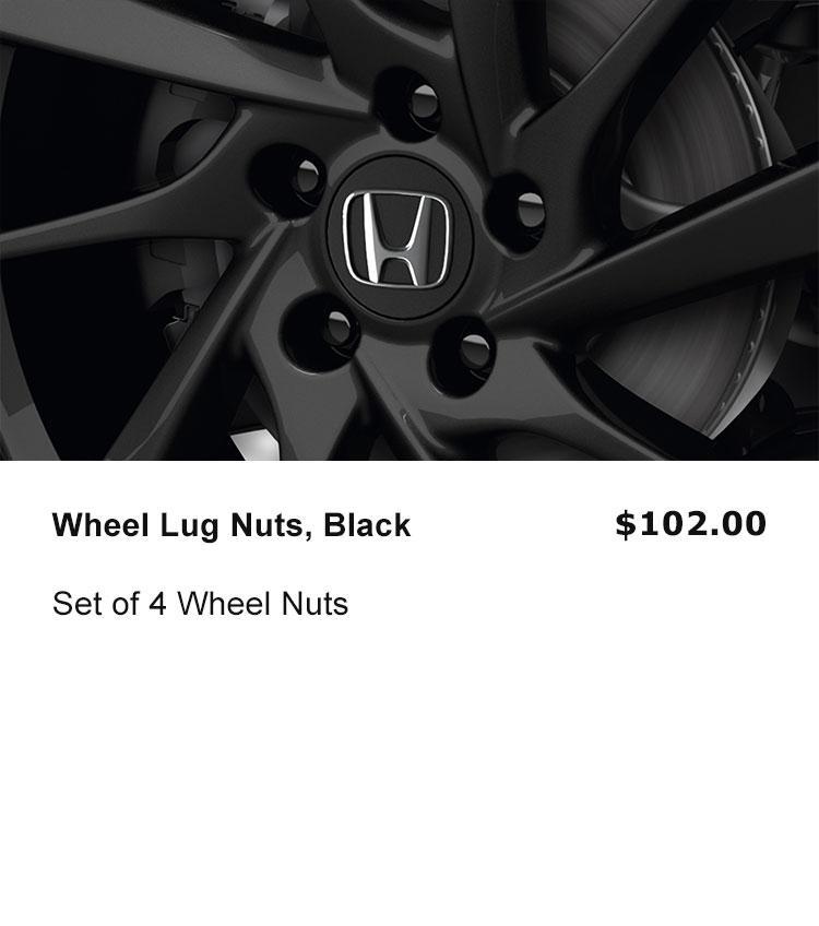 Wheel Lug Nuts, Black