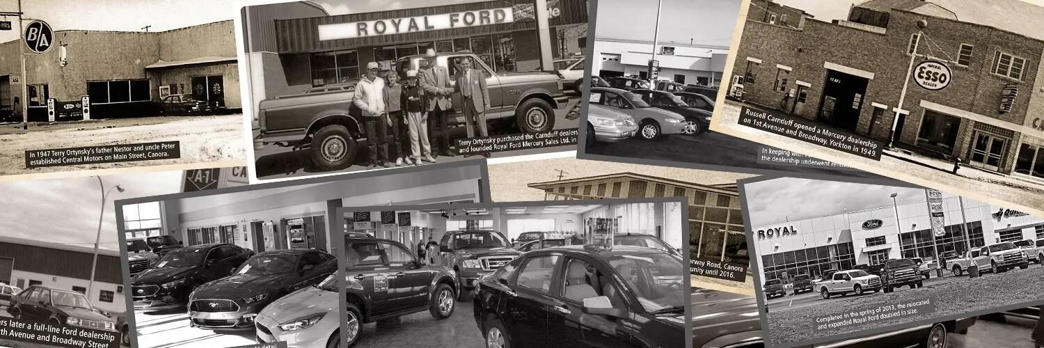 Royal Ford history collage