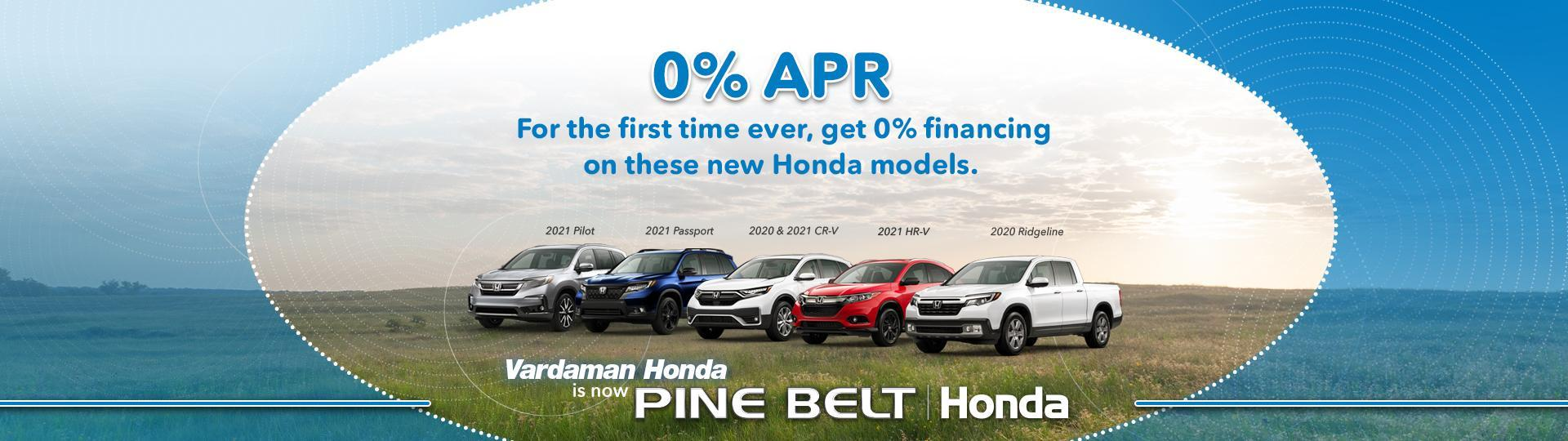 0% APR Finance Offer - Pine Belt Honda