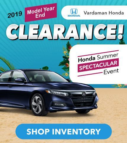 Shop New Hondas at Vardaman Honda