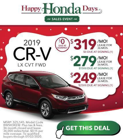 New Honda CR-V Offer at Vardaman Honda Hattiesburg
