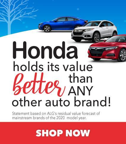Honda holds its value better than any other auto brand