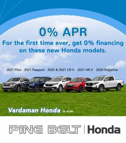 0% APR Finance Offer - Pine Belt Honda