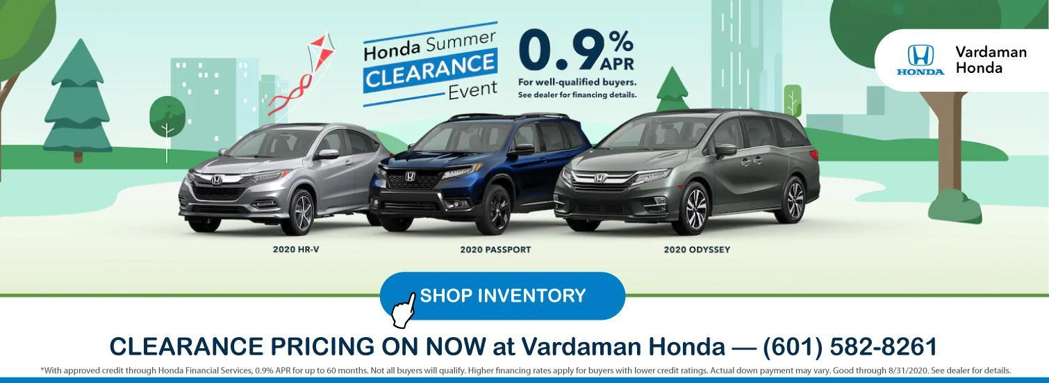 Honda Summer Clearance Event at Vardaman Honda