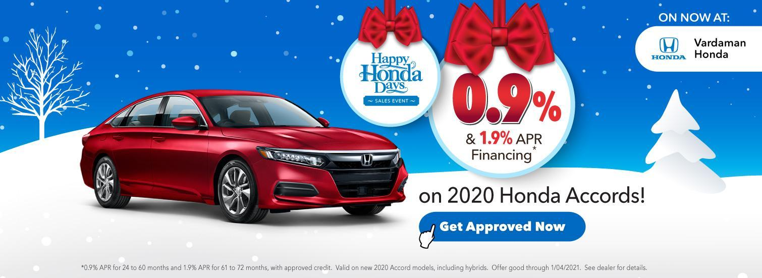 Honda Finance Offer during Happy Honda Days at Vardaman Honda