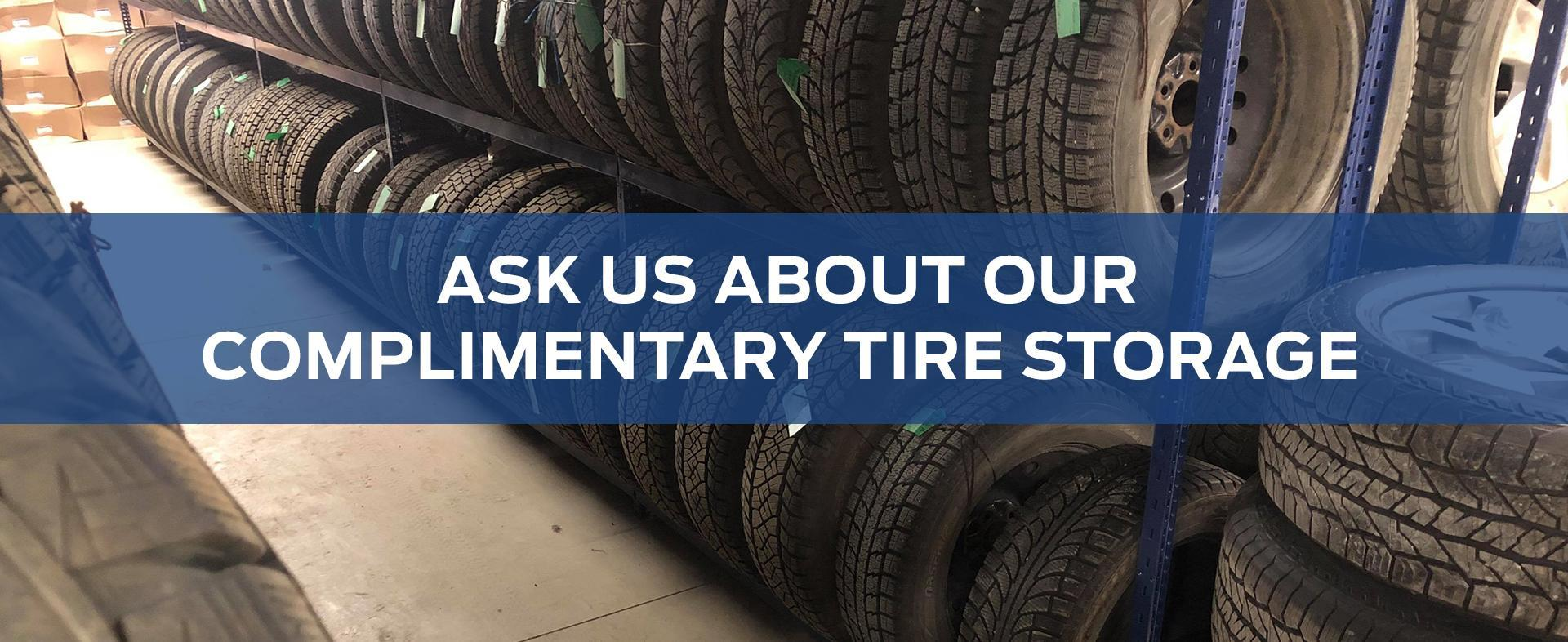 Complimentary Tire Storage at Norris Ford