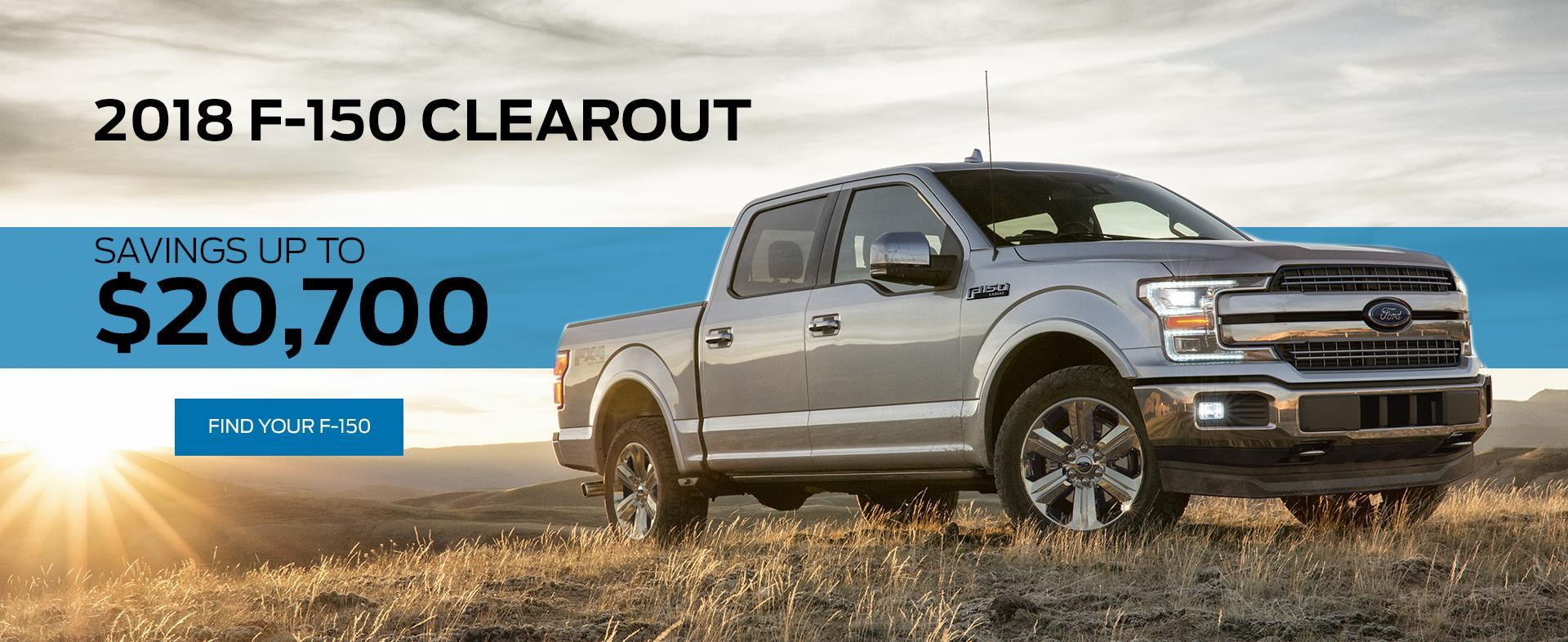 2018 Ford F-150 Clearout