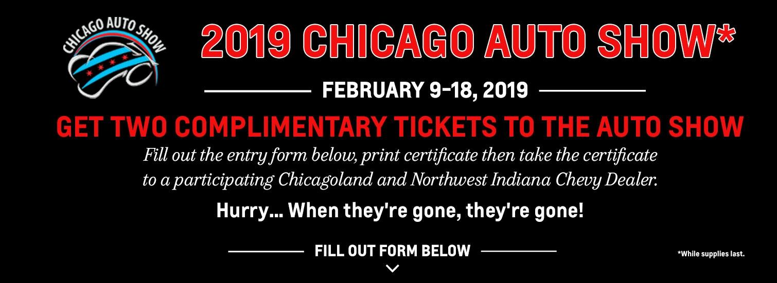 2019 Chicago Auto Show Ticket Giveaway | Chevy Drives Chicago