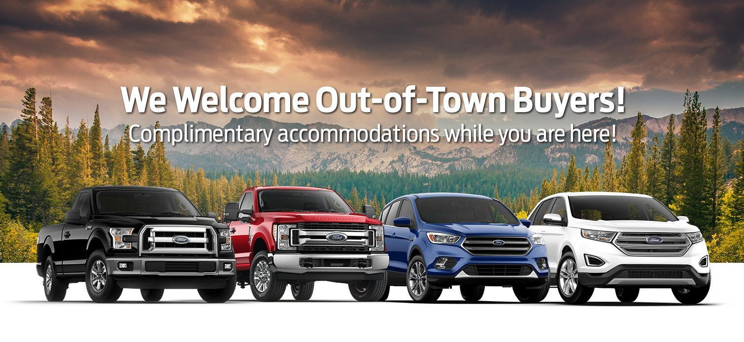 We welcome out of town buyers at Westline Ford