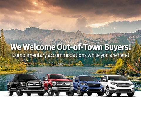 We welcome out of town buyers at Westline Ford!
