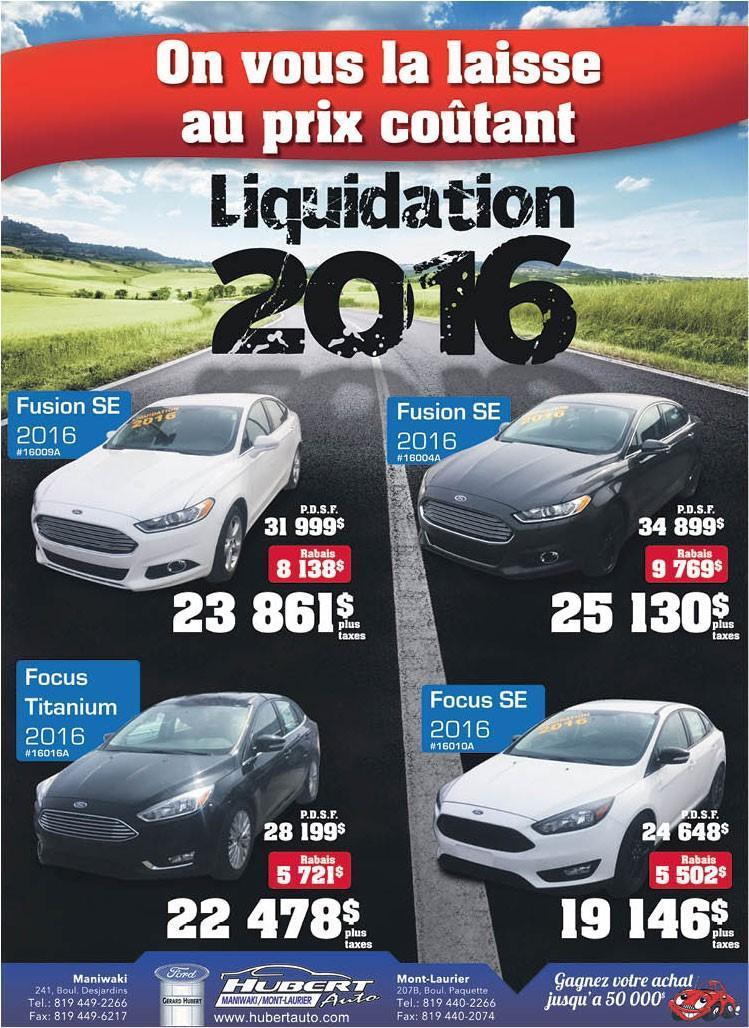 Liquidation de nos modèles 2016