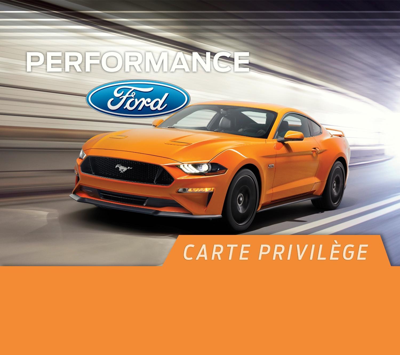 Carte Privilège Performance Ford