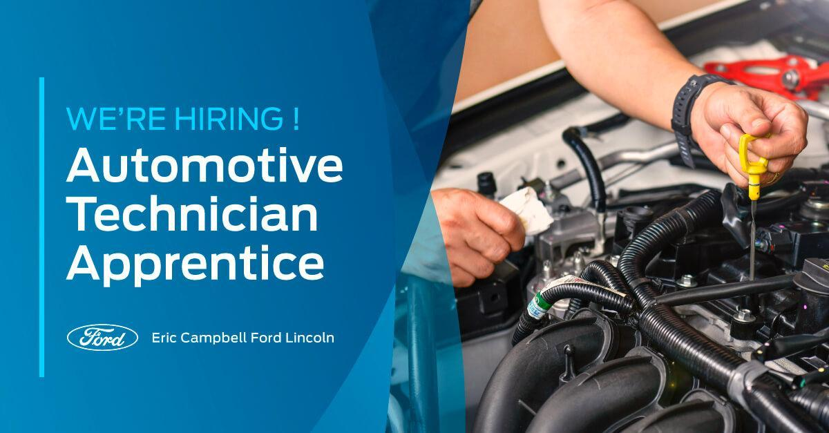 We're hiring! Automotive Technician Apprentice