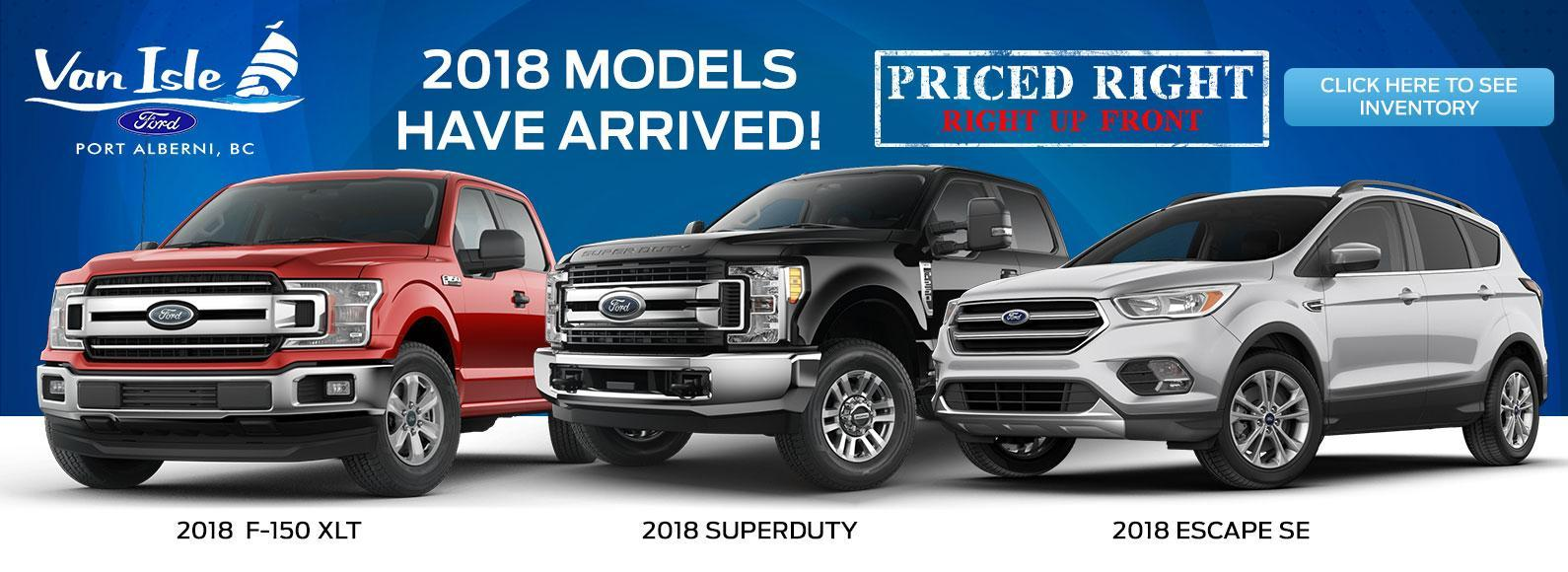 New Ford Cars, SUVs and Trucks Inventory Van Isle Ford Port Alberni