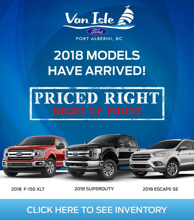 New Ford Cars, SUVs and Trucks Inventory Van Isle Ford Port Alberni