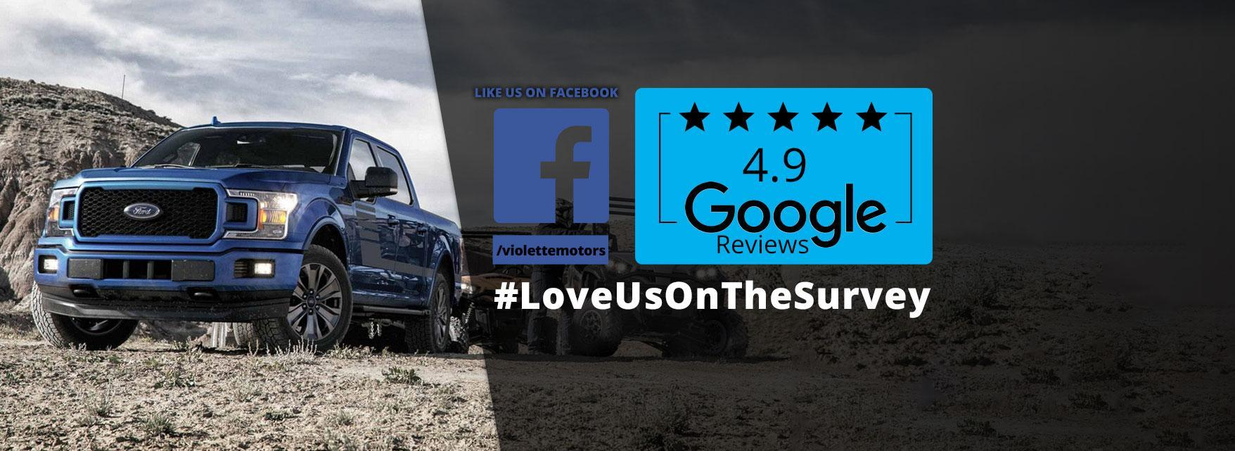 Like Us Google Facebook Violette Motors