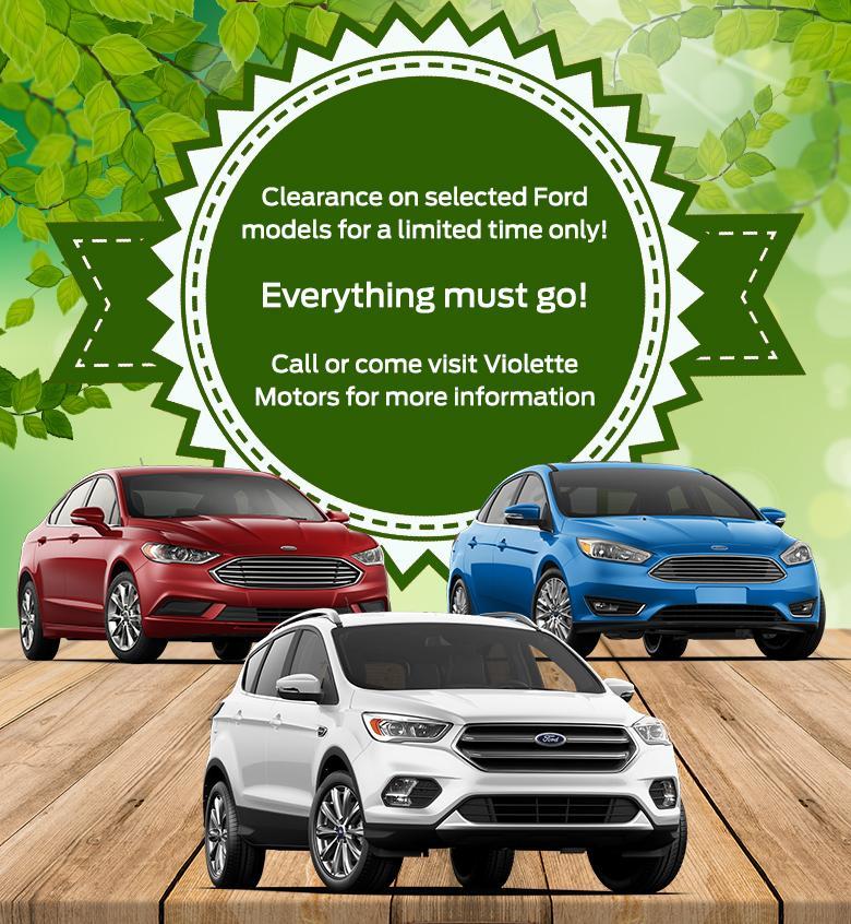 Clearance Violette Motors Ford models