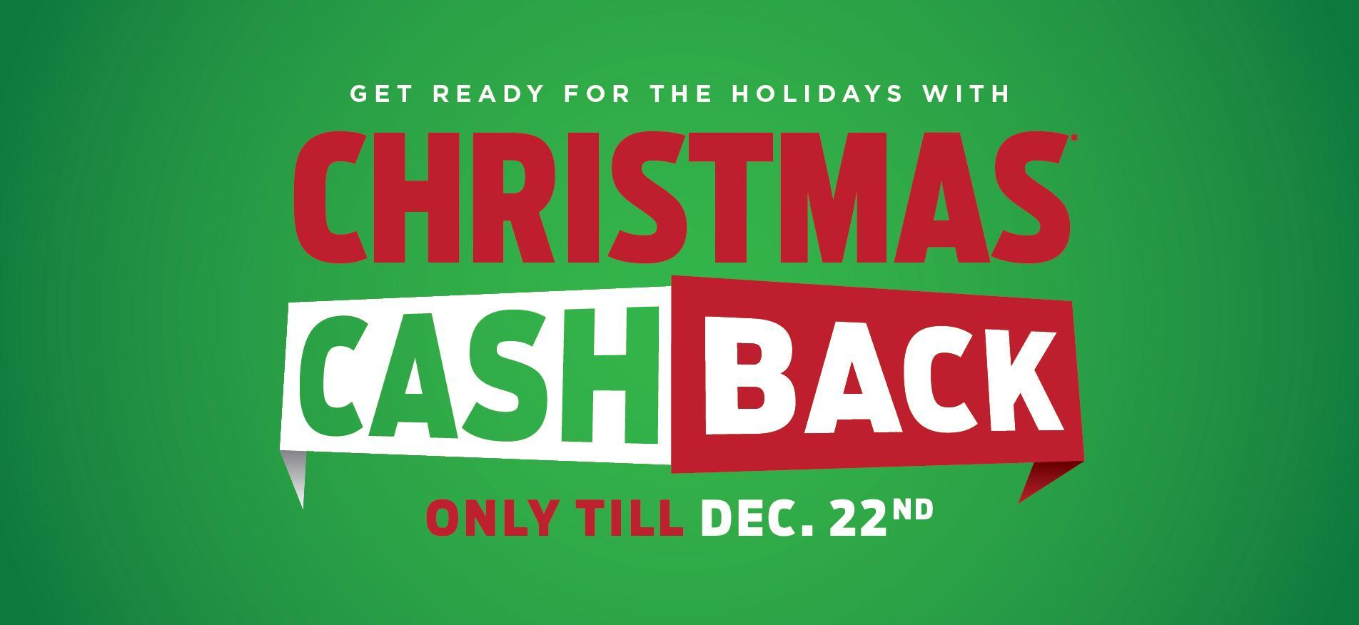 Christmas Cash Back Desktop