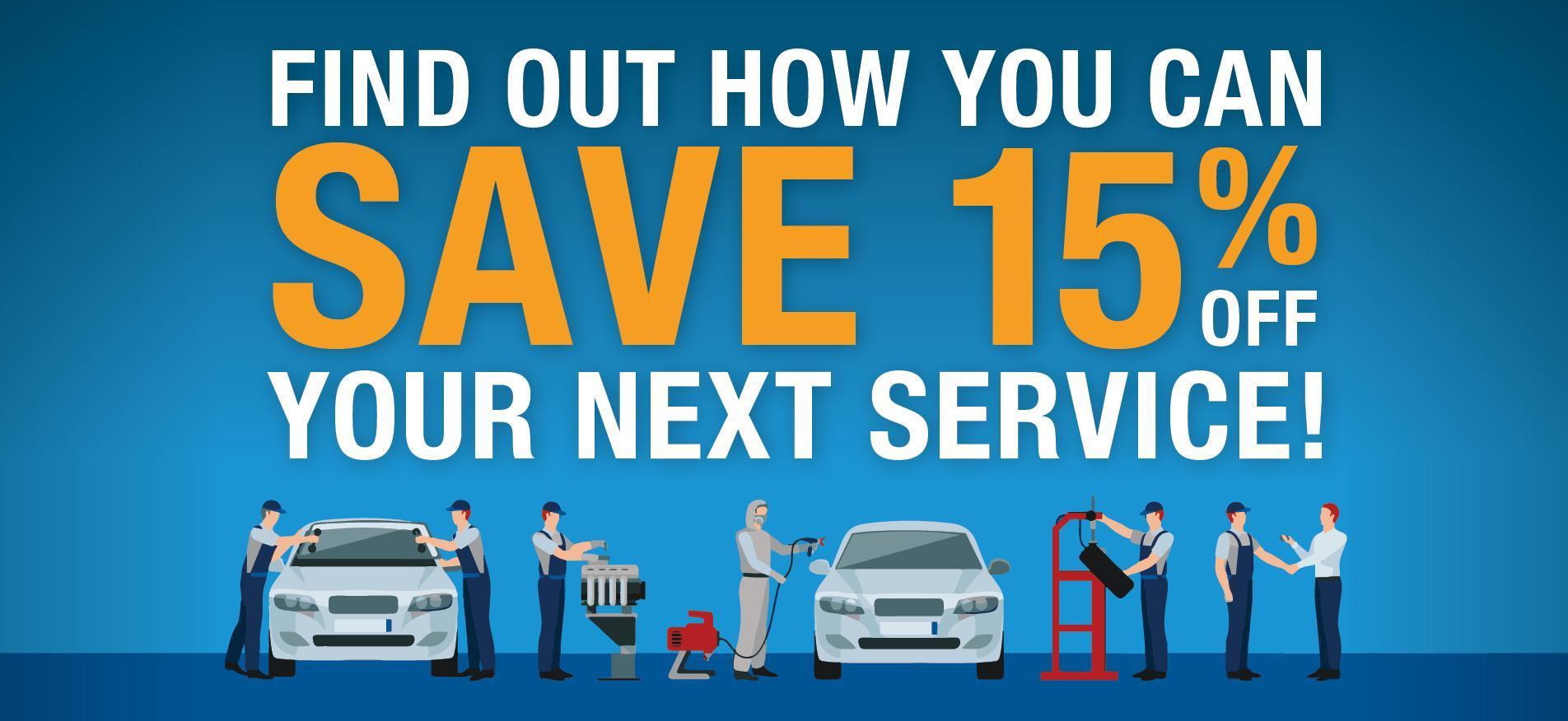 15% Off Service