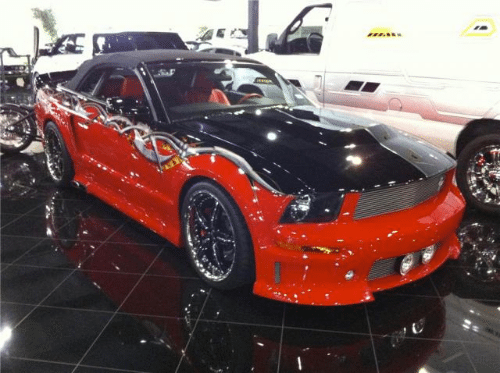 Sylvester Stallone Ford Mustang Convertible