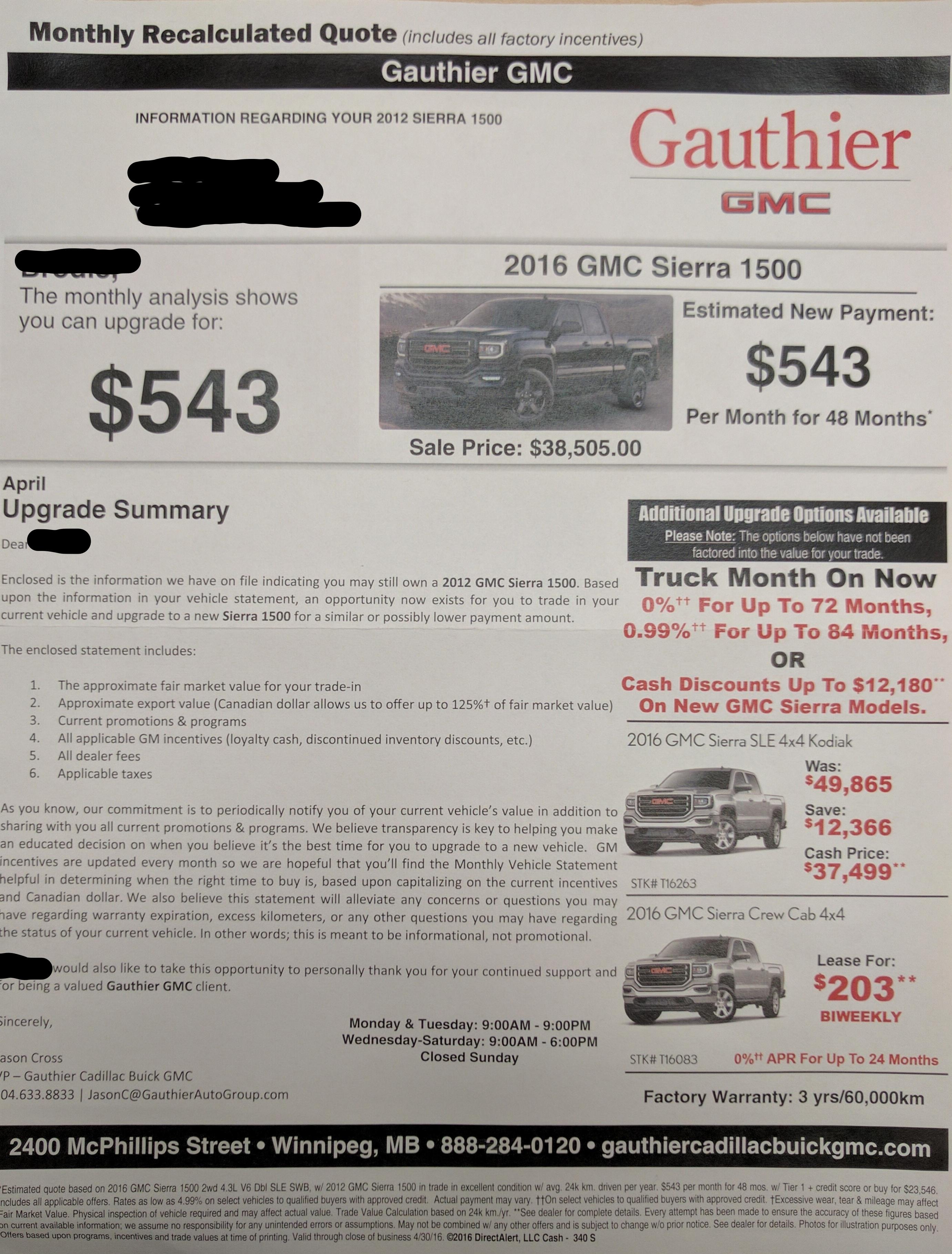 About Your Vehicles Equity Mail Piece