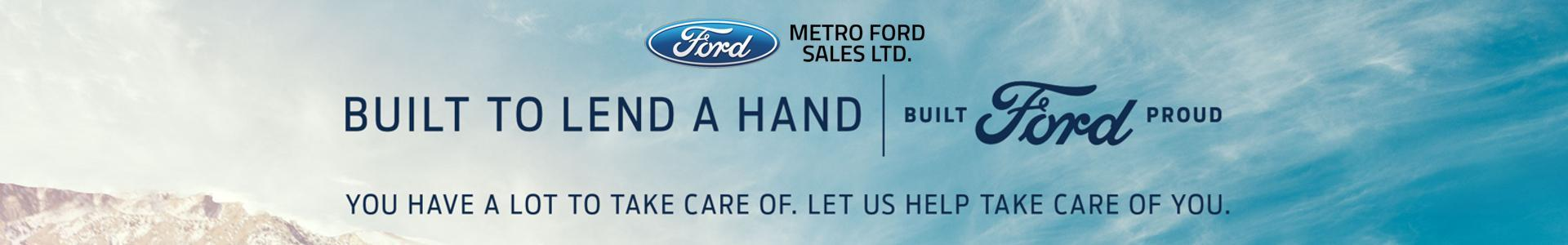 Metro Ford is here to Lend a Hand