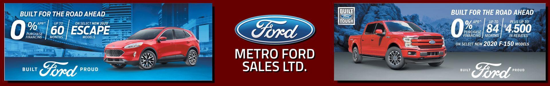 Metro Ford, Built for the Road ahead, serving Calgary, Alberta