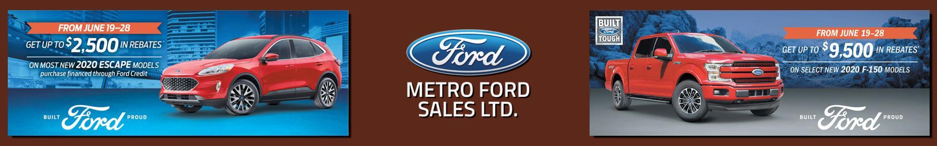 Metro Ford, Built for the Road ahead, serving Calgary, Alberta
