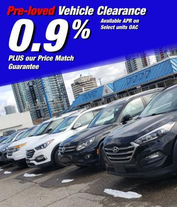 Pre-loved Vehicle Clearance sale at Metro Ford, Calgary, Alberta