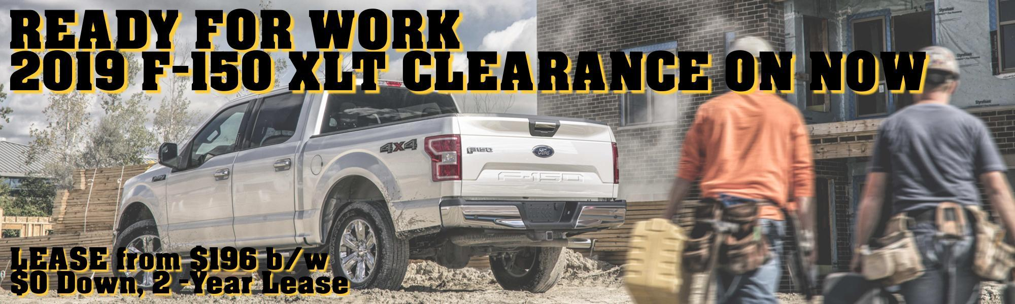 2019 Ford F-150 Clearance on now at Metro Ford