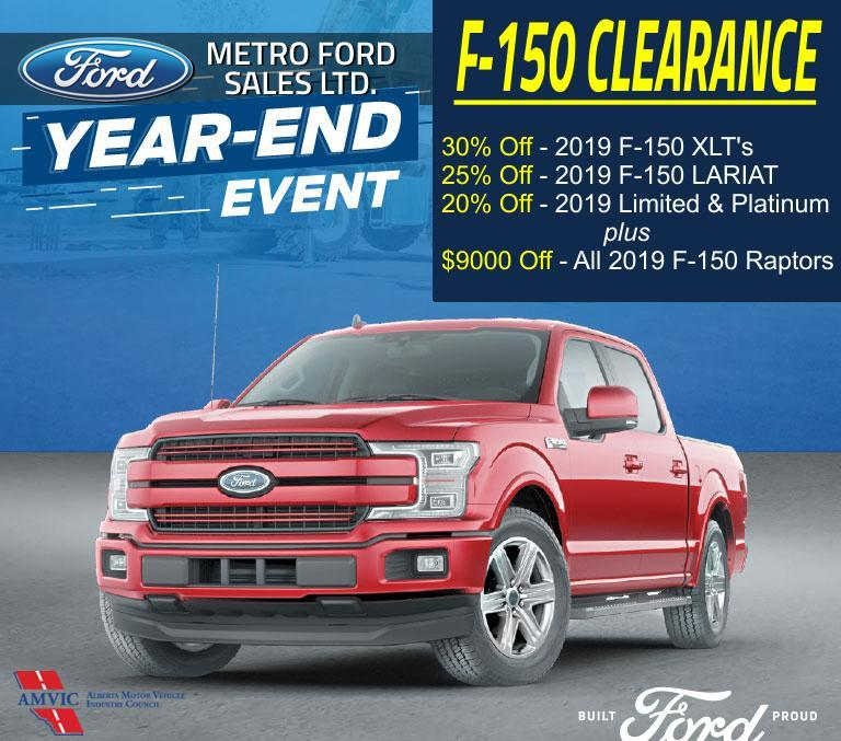 Ford Year End Clearance at Metro Ford, Calgary Alberta