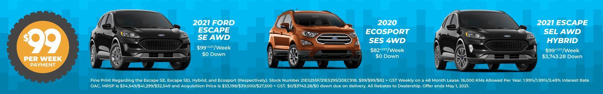 Choose your $99/Week SUV at Metro Ford Calgary