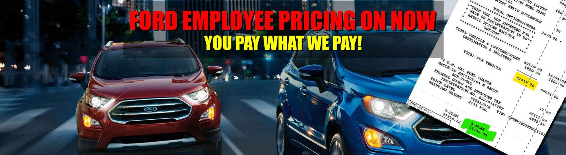 Ford Employee Pricing on now at Metro Ford in Calgary Alberta