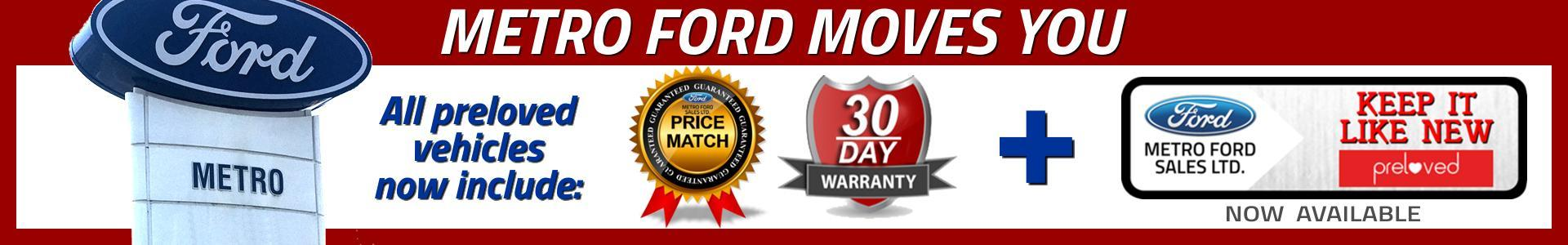 Used and preloved Vehicles at Metro Ford Calgary