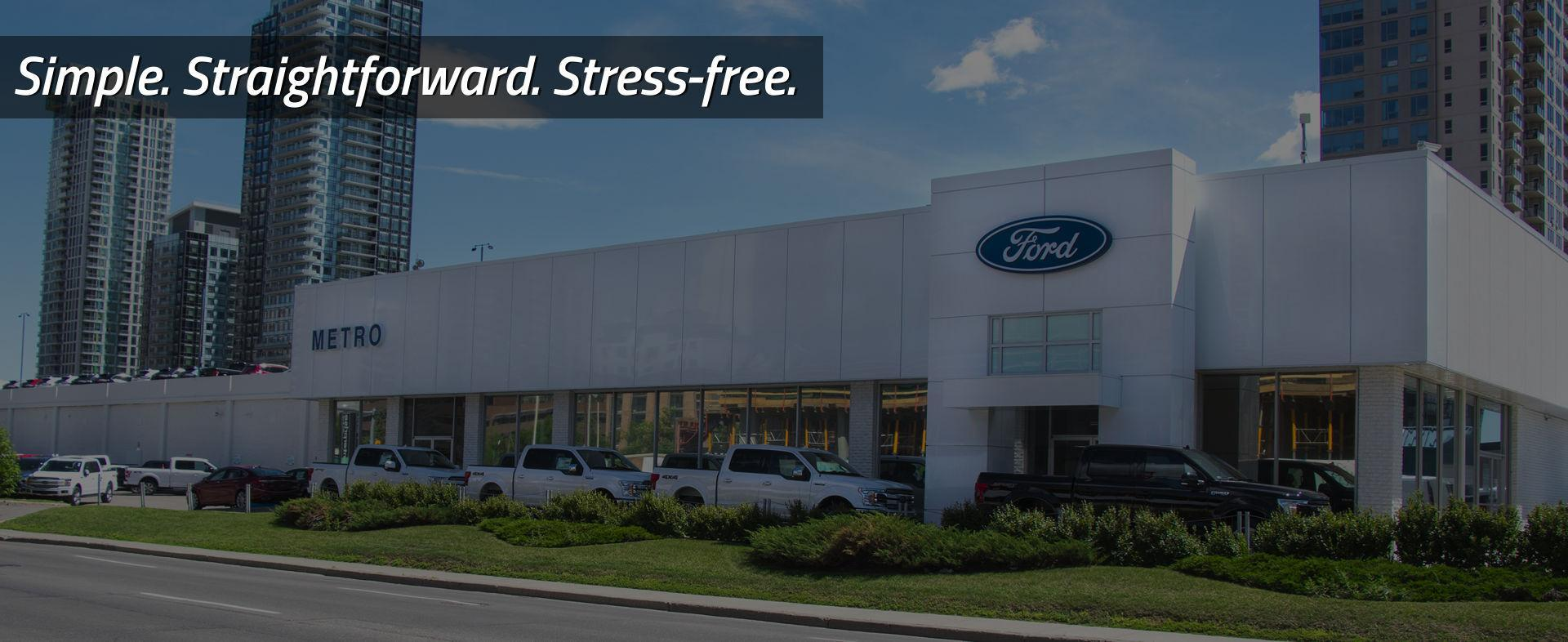 We are Metro Ford, your downtown Calgary Ford Dealer!