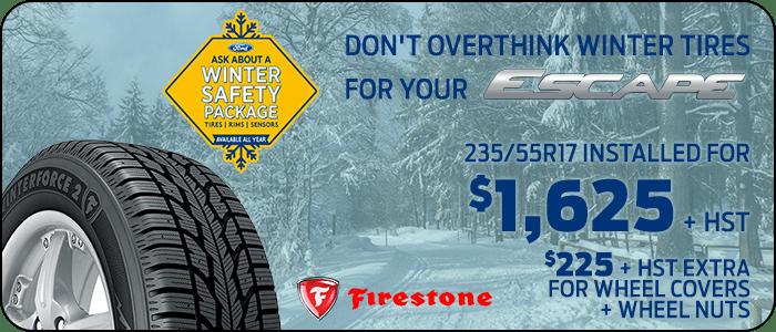 Escape winter tire offer