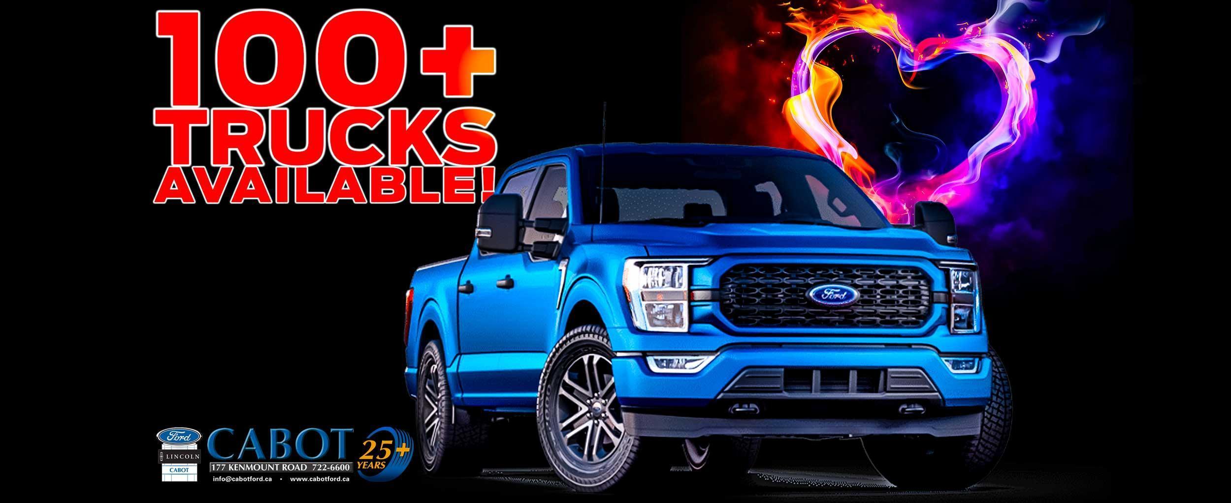 100+ trucks available!