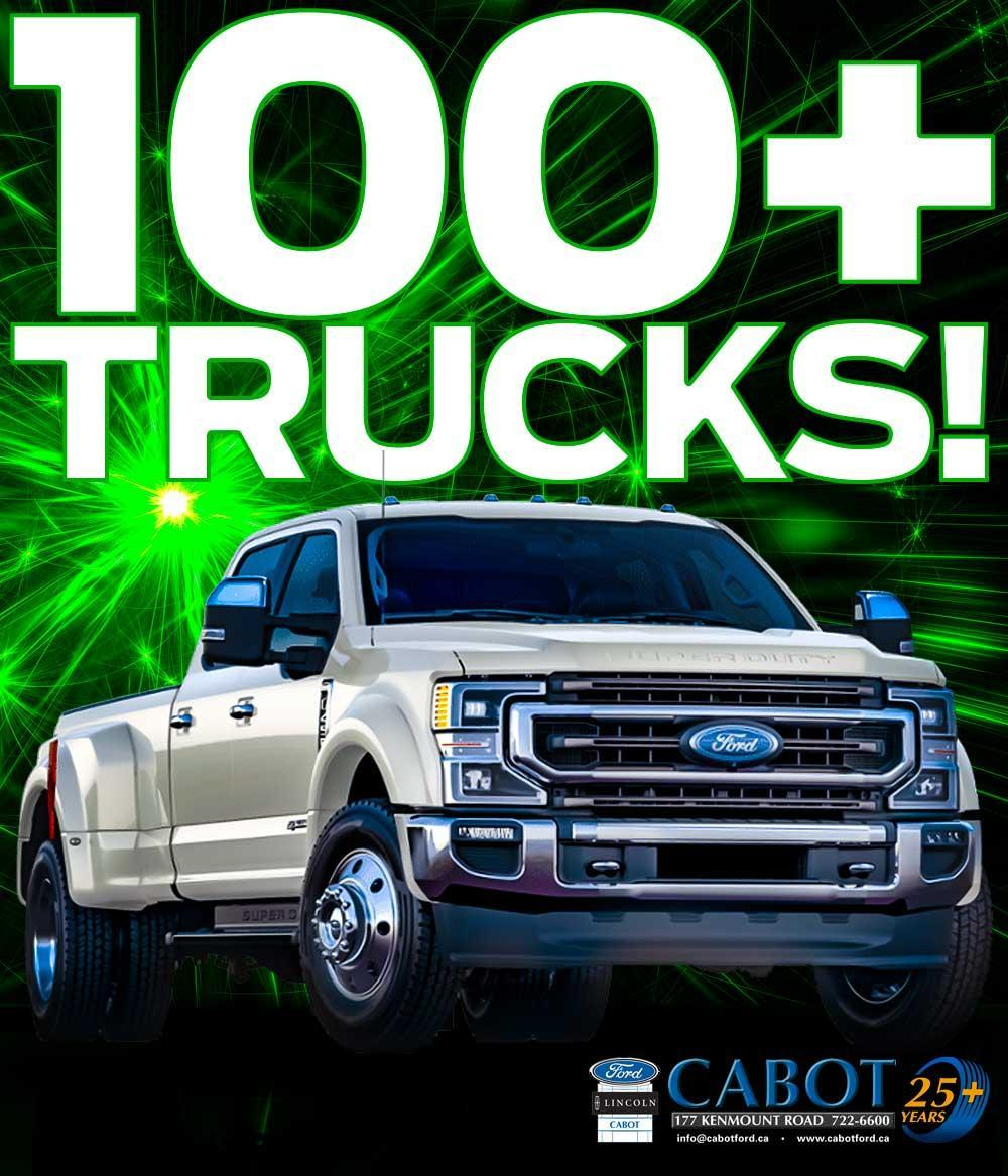 Cabot has 100+ trucks available, with trucks on the ground and truckloads more on the way.