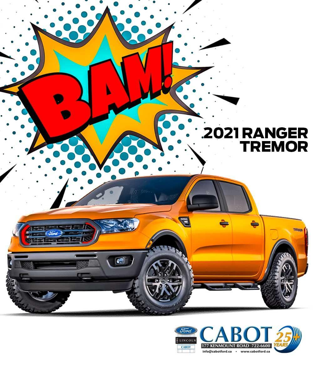 BAM! The 2021 Ranger Tremor is one of the very finest trucks you'll find anywhere.